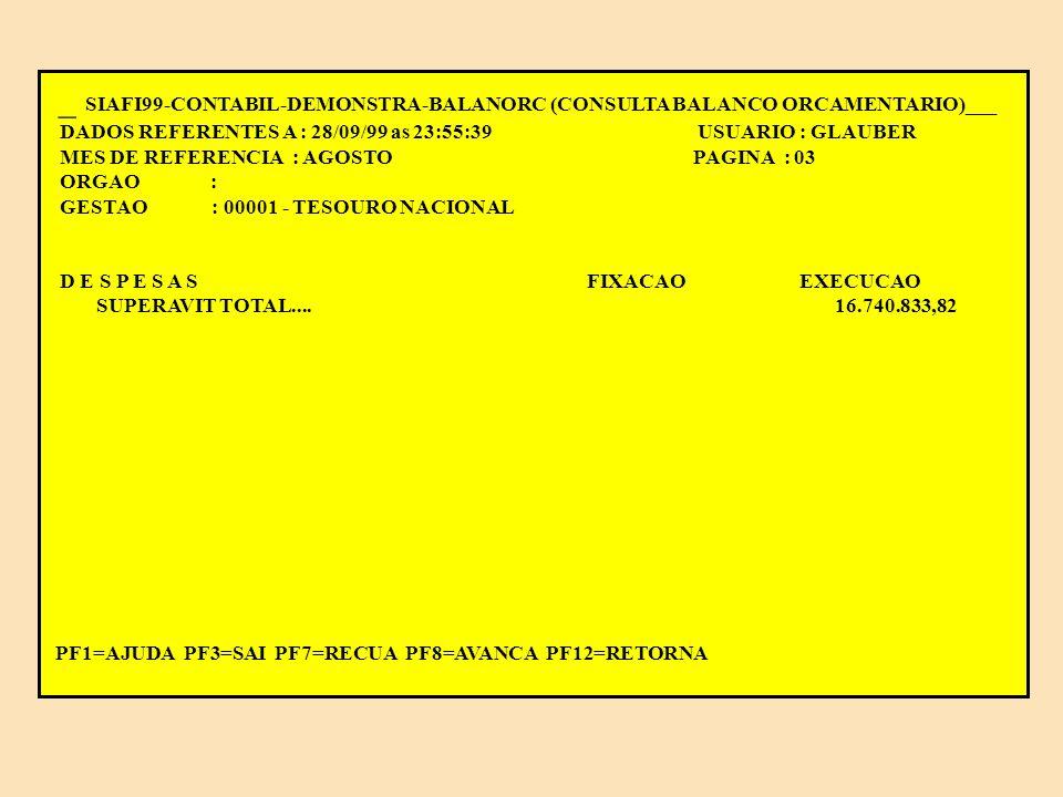 _ SIAFI99-CONTABIL-DEMONSTRA-BALANORC (CONSULTA BALANCO ORCAMENTARIO)___