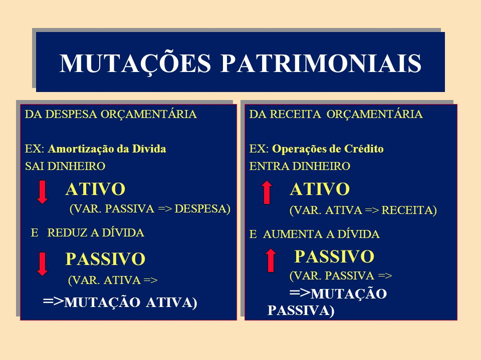 MUTAÇÕES PATRIMONIAIS
