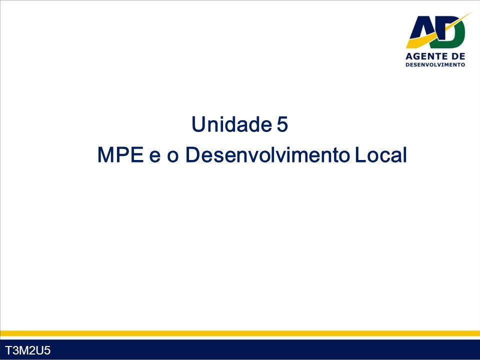 Unidade 5 MPE e o Desenvolvimento Local