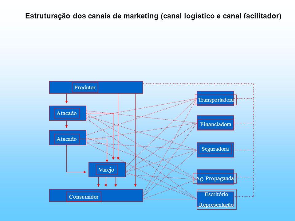 Estruturação dos canais de marketing (canal logístico e canal facilitador)