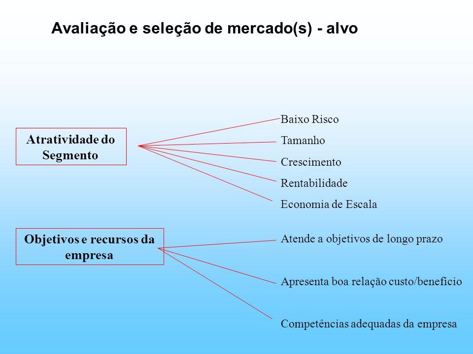 Avaliação e seleção de mercado(s) - alvo