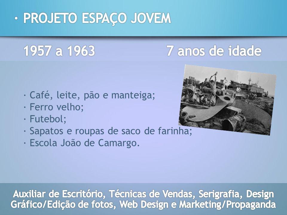 · PROJETO ESPAÇO JOVEM 1957 a 1963 7 anos de idade