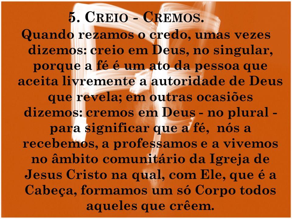 5. Creio - Cremos.