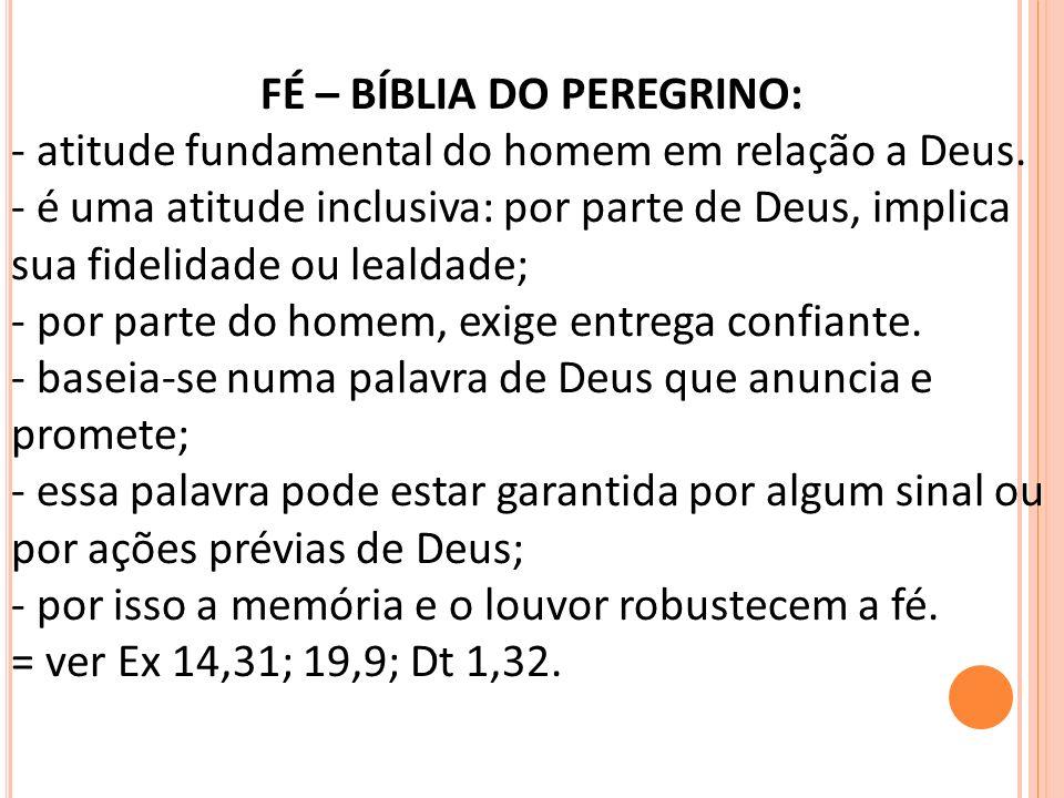 FÉ – BÍBLIA DO PEREGRINO: