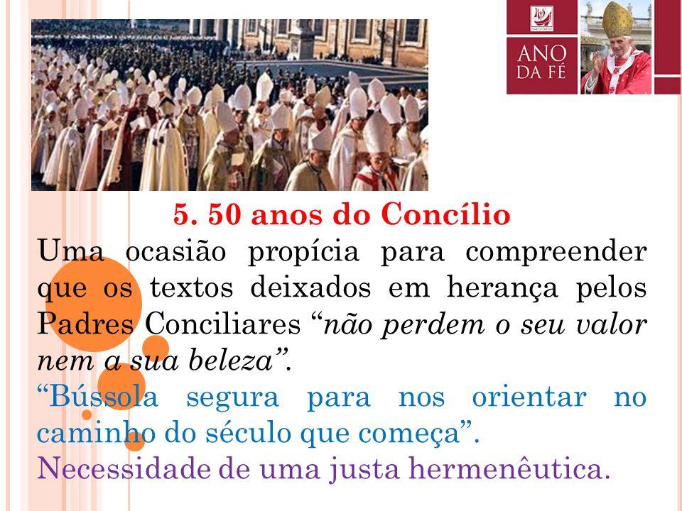 5. 50 anos do Concílio