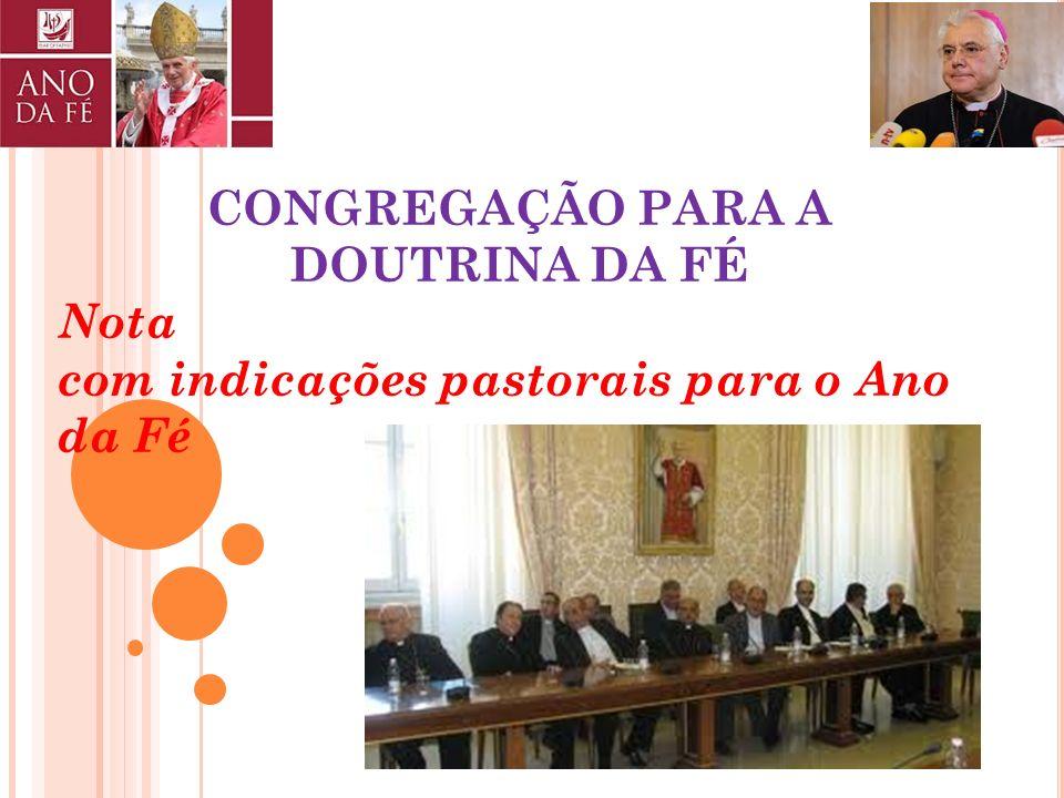 CONGREGAÇÃO PARA A DOUTRINA DA FÉ