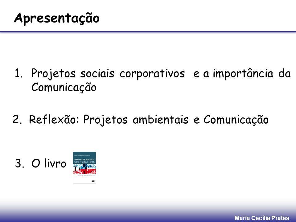 Apresentação Projetos sociais corporativos e a importância da Comunicação. 2. Reflexão: Projetos ambientais e Comunicação.
