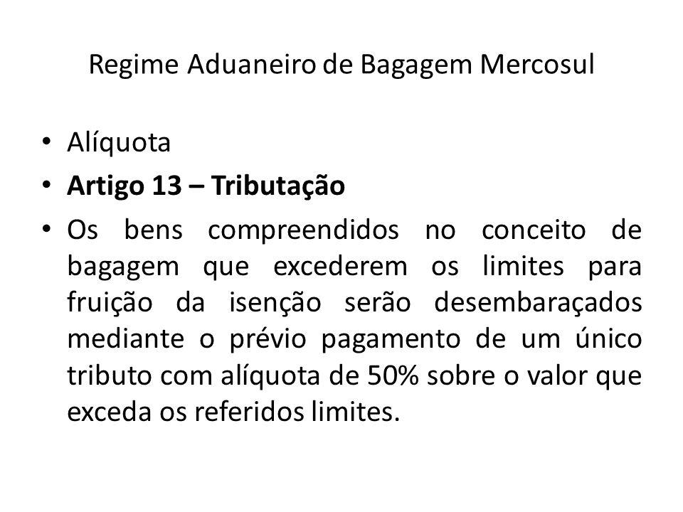Regime Aduaneiro de Bagagem Mercosul