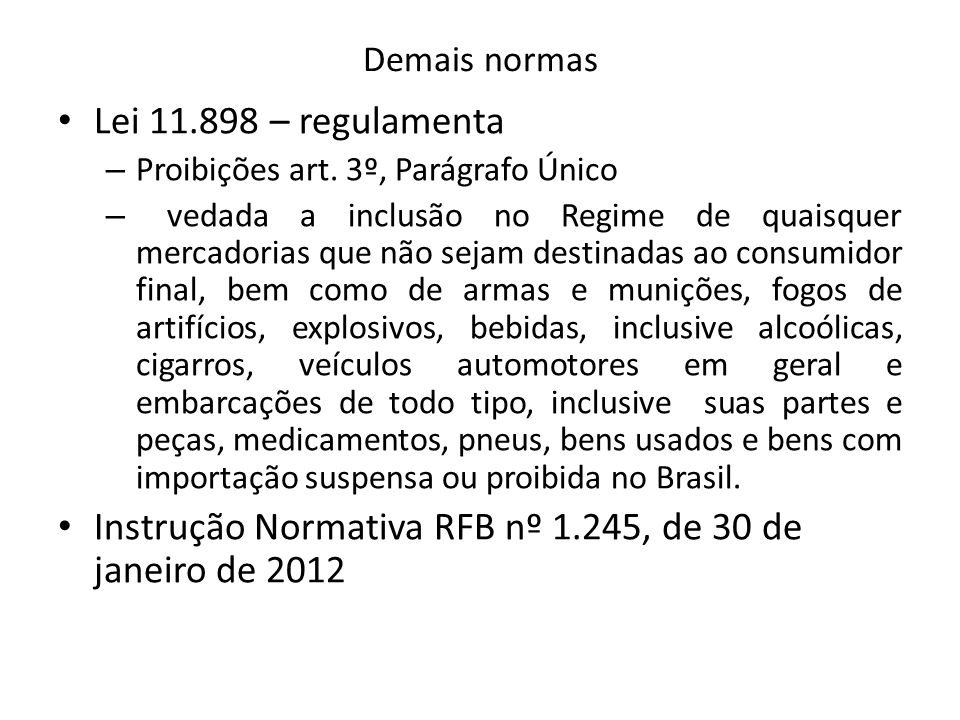 Instrução Normativa RFB nº 1.245, de 30 de janeiro de 2012