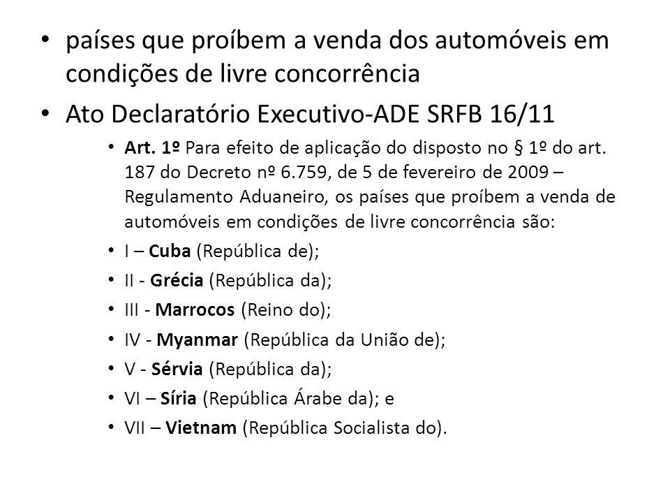 Ato Declaratório Executivo-ADE SRFB 16/11