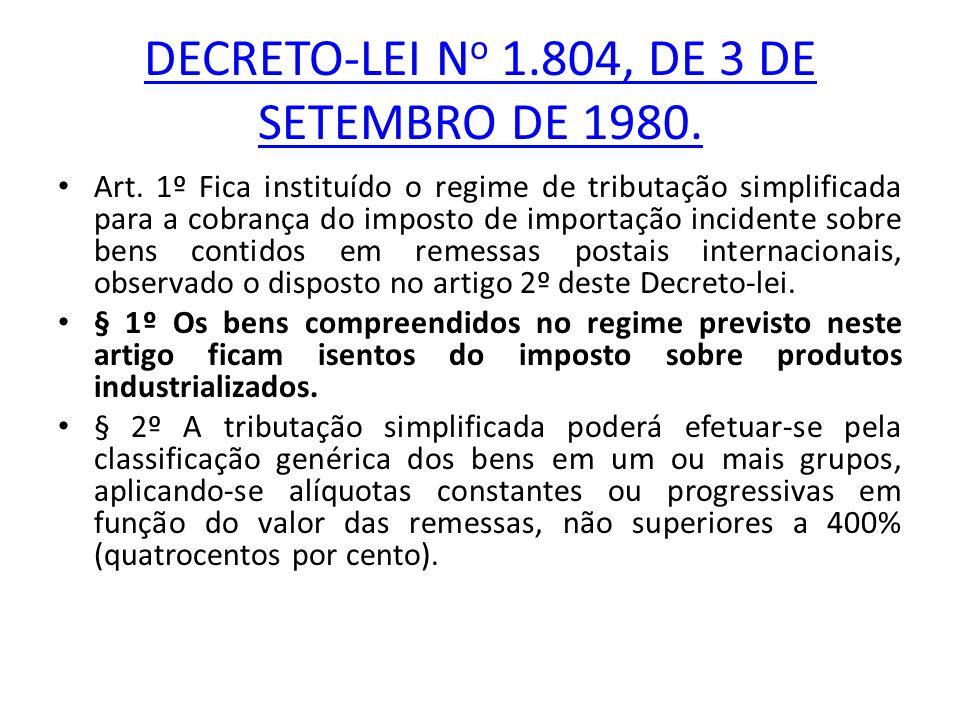 DECRETO-LEI No 1.804, DE 3 DE SETEMBRO DE 1980.