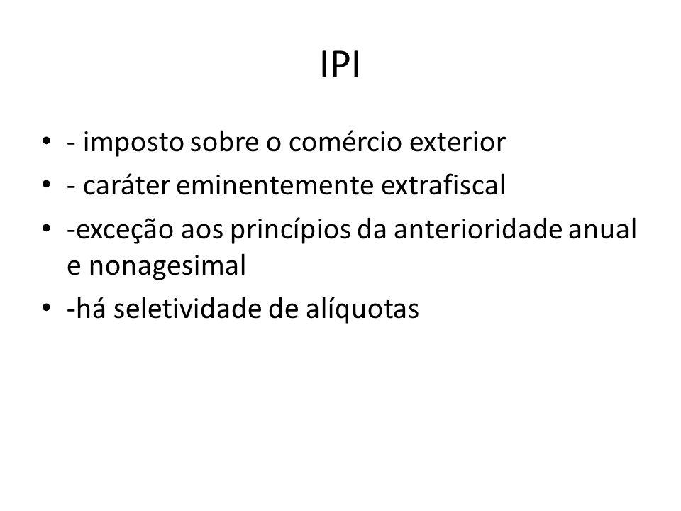 IPI - imposto sobre o comércio exterior