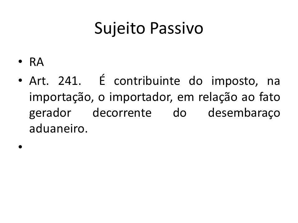 Sujeito Passivo RA.