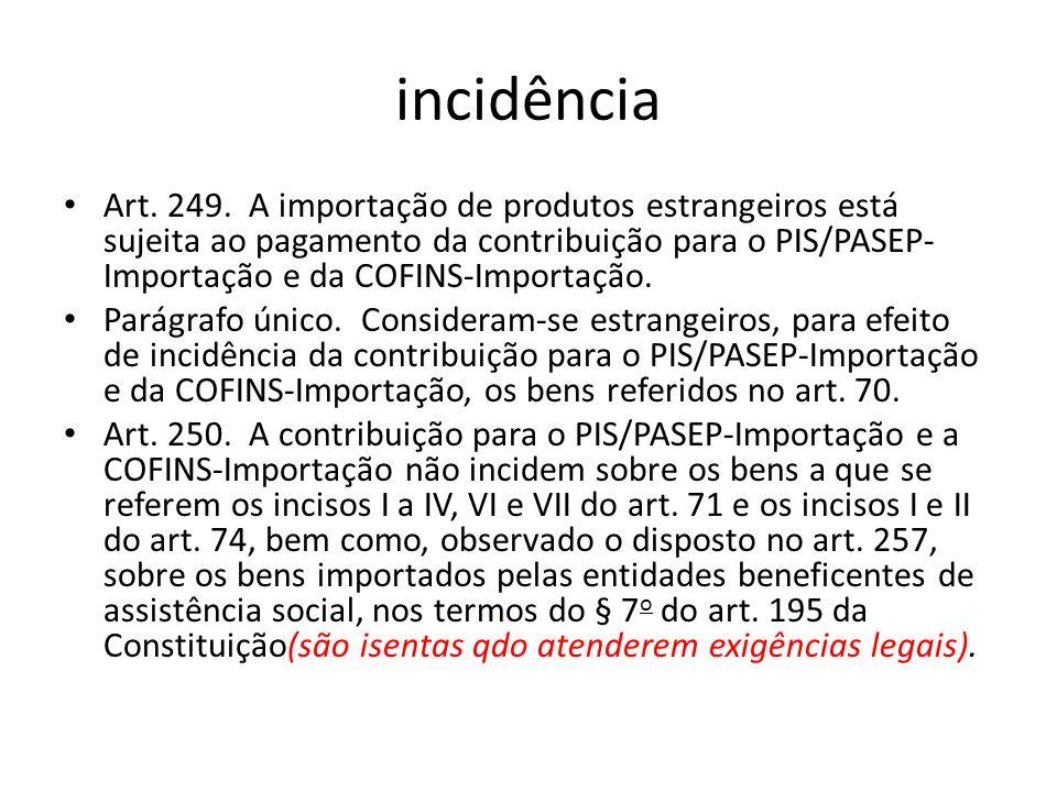 incidência