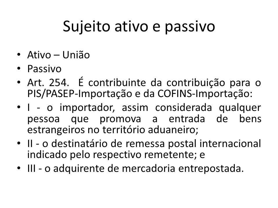 Sujeito ativo e passivo