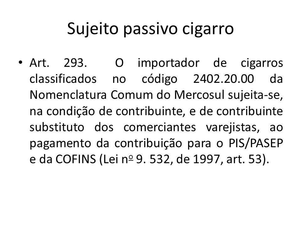 Sujeito passivo cigarro