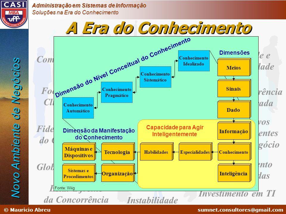 Dimensão do Nível Conceitual do Conhecimento Dimensão da Manifestação