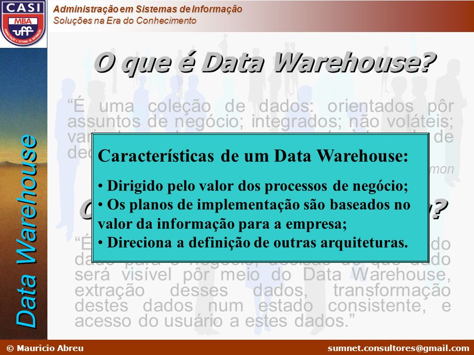 O que é Data Warehousing