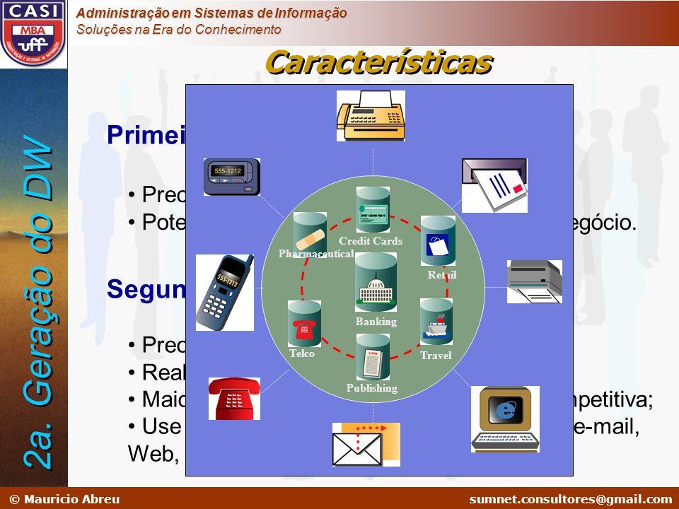 2a. Geração do DW Características Primeira Geração Segunda Geração