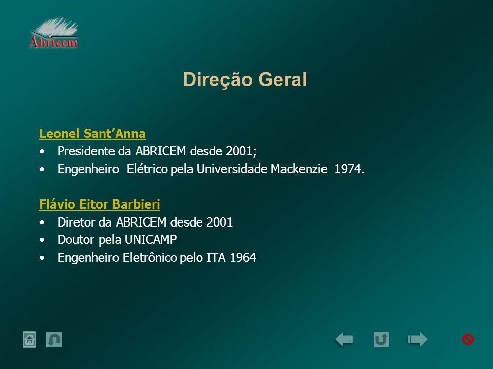 Direção Geral Leonel Sant'Anna Presidente da ABRICEM desde 2001;