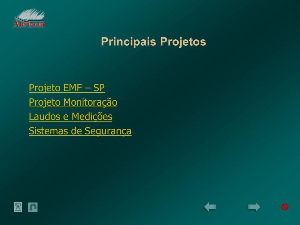 Principais Projetos Projeto EMF – SP Projeto Monitoração