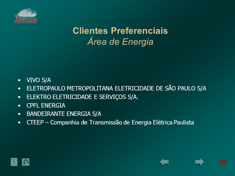 Clientes Preferenciais Área de Energia