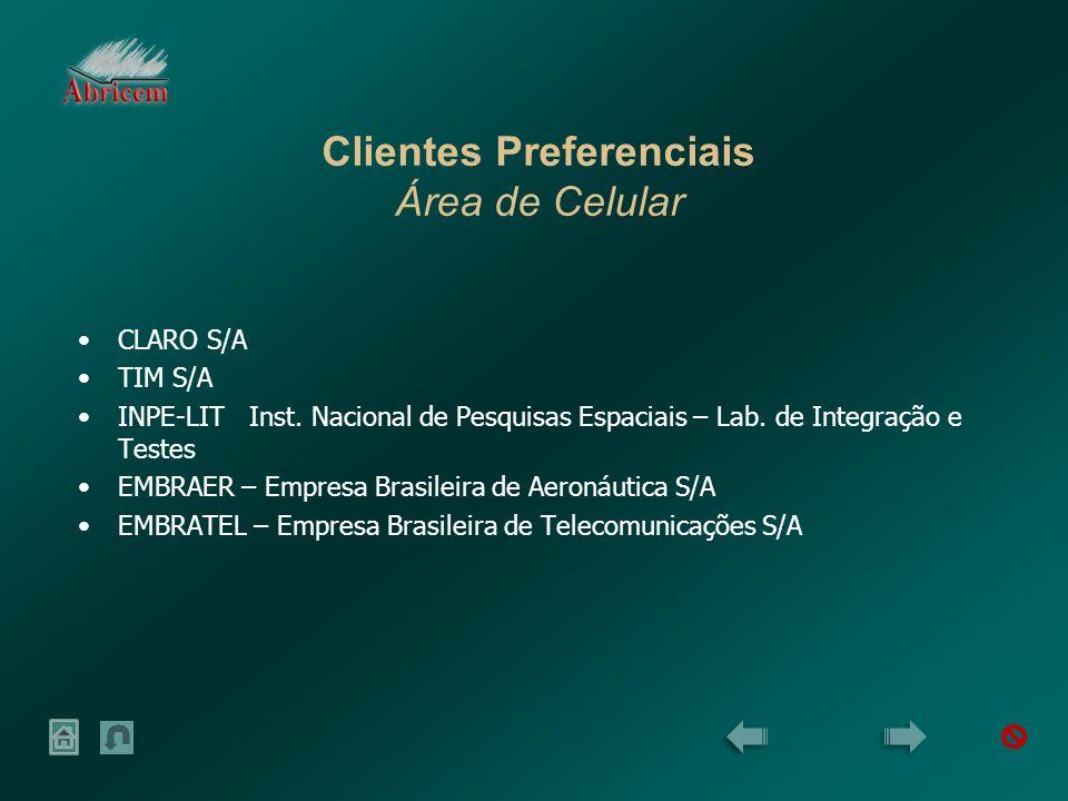 Clientes Preferenciais Área de Celular