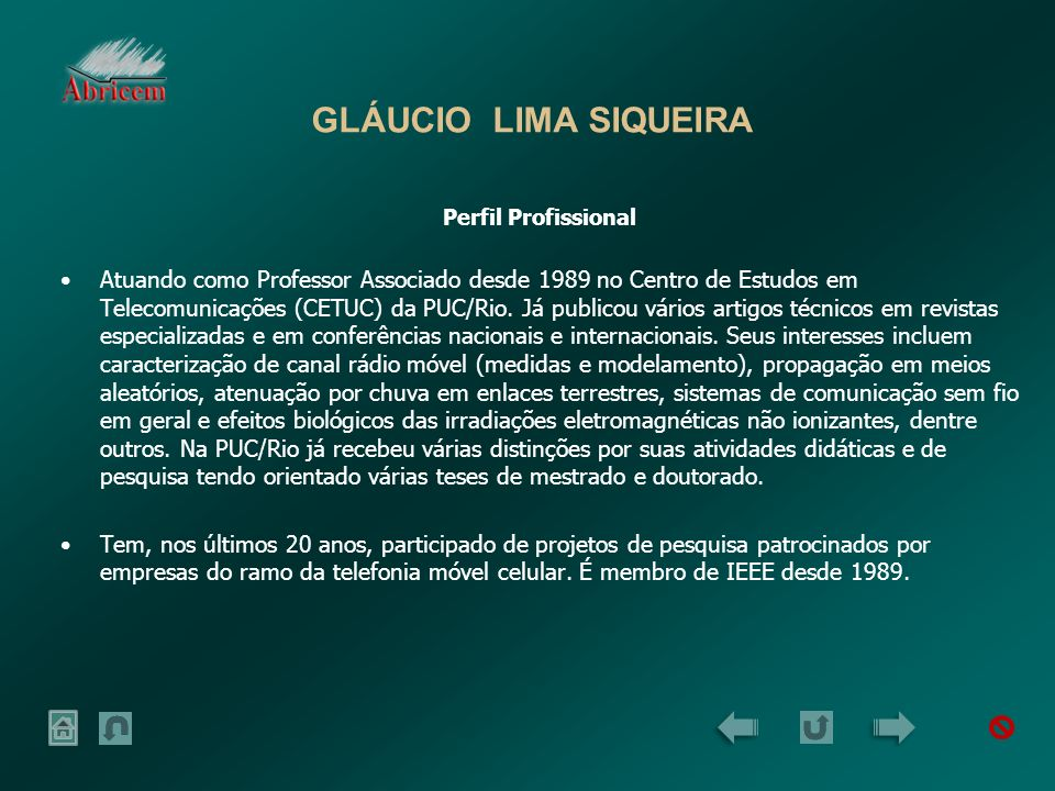 GLÁUCIO LIMA SIQUEIRA Perfil Profissional.