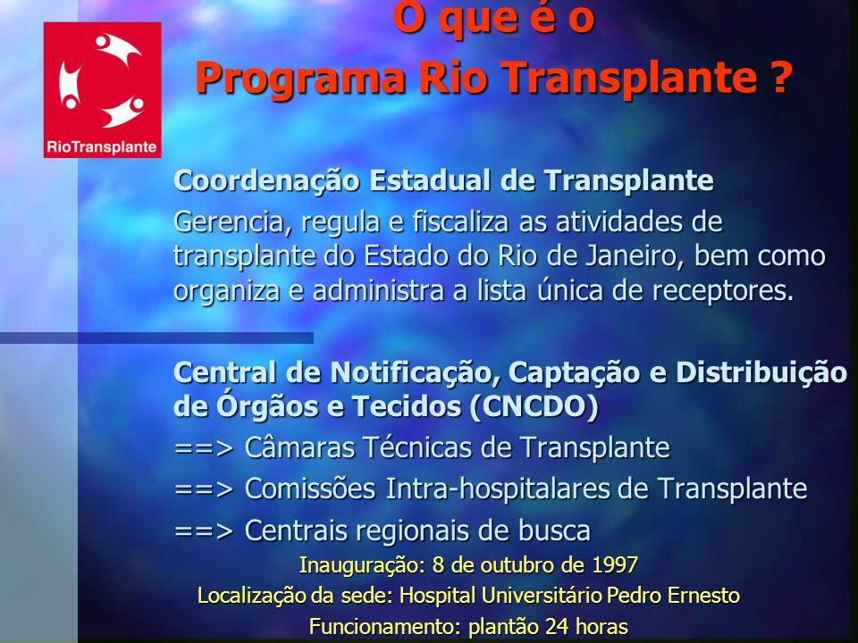 O que é o Programa Rio Transplante
