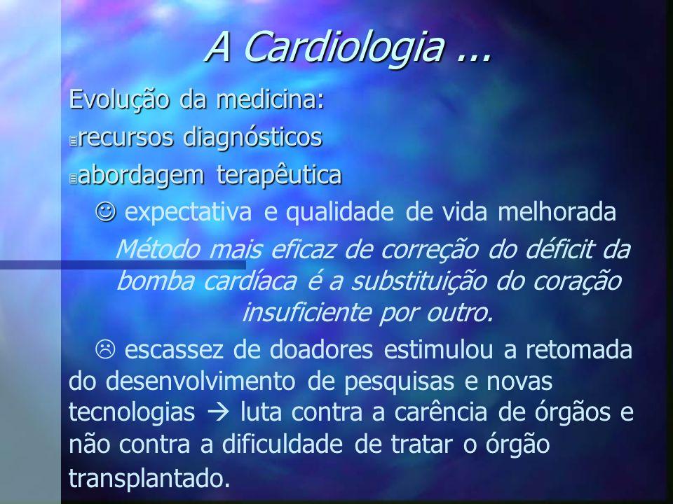 A Cardiologia ... Evolução da medicina: recursos diagnósticos