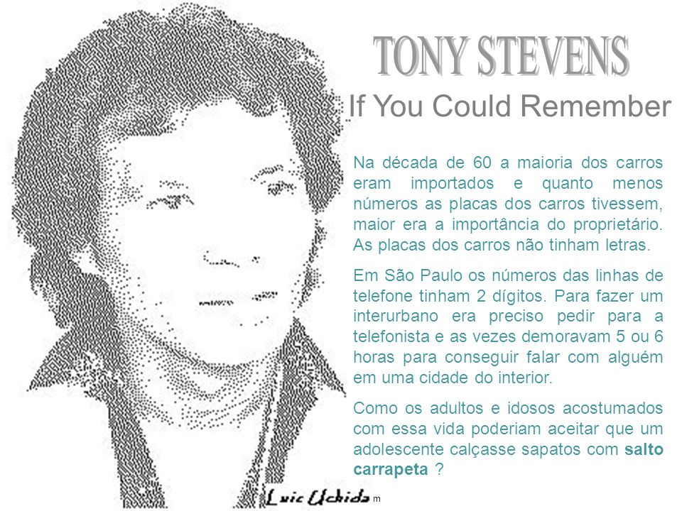 TONY STEVENS If You Could Remember