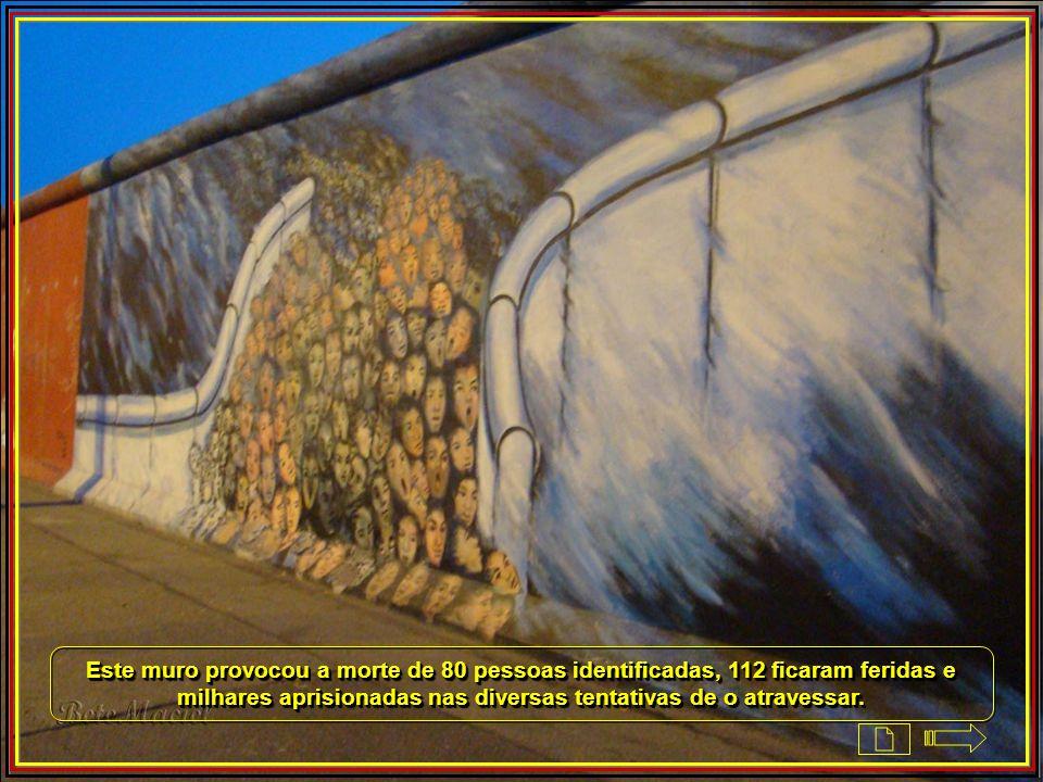 Este muro provocou a morte de 80 pessoas identificadas, 112 ficaram feridas e milhares aprisionadas nas diversas tentativas de o atravessar.