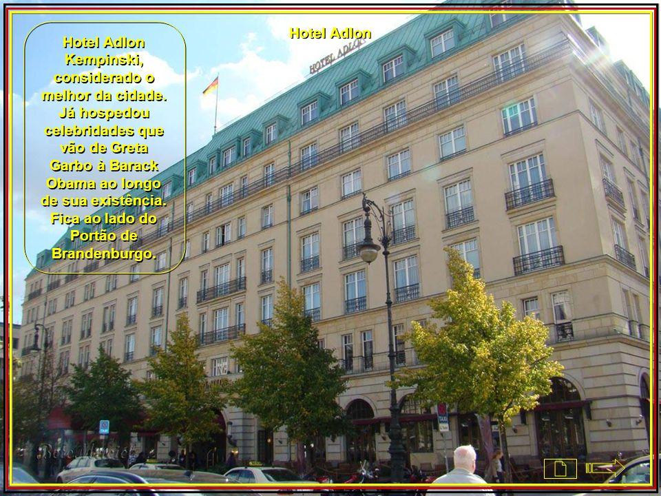 Hotel Adlon Kempinski, considerado o melhor da cidade
