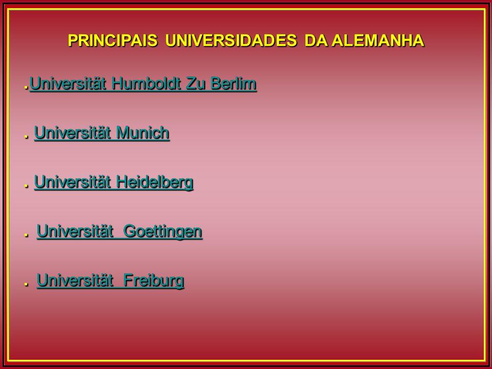 PRINCIPAIS UNIVERSIDADES DA ALEMANHA