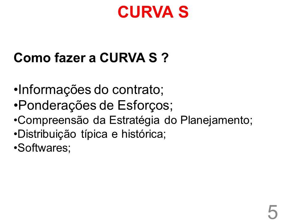 CURVA S Como fazer a CURVA S Informações do contrato;