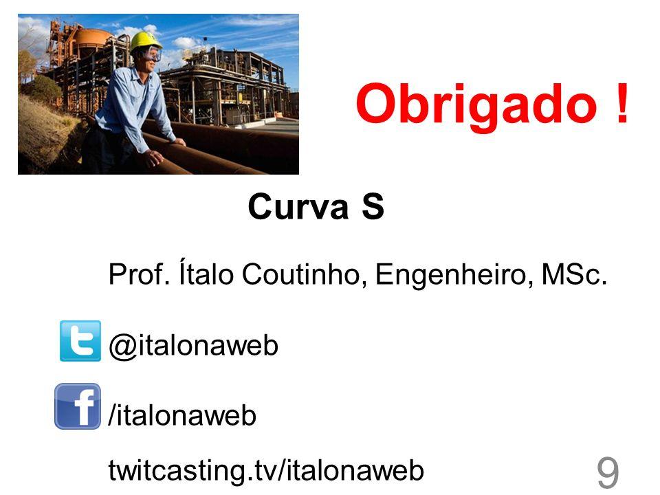 Obrigado ! Curva S Prof. Ítalo Coutinho, Engenheiro, MSc. @italonaweb