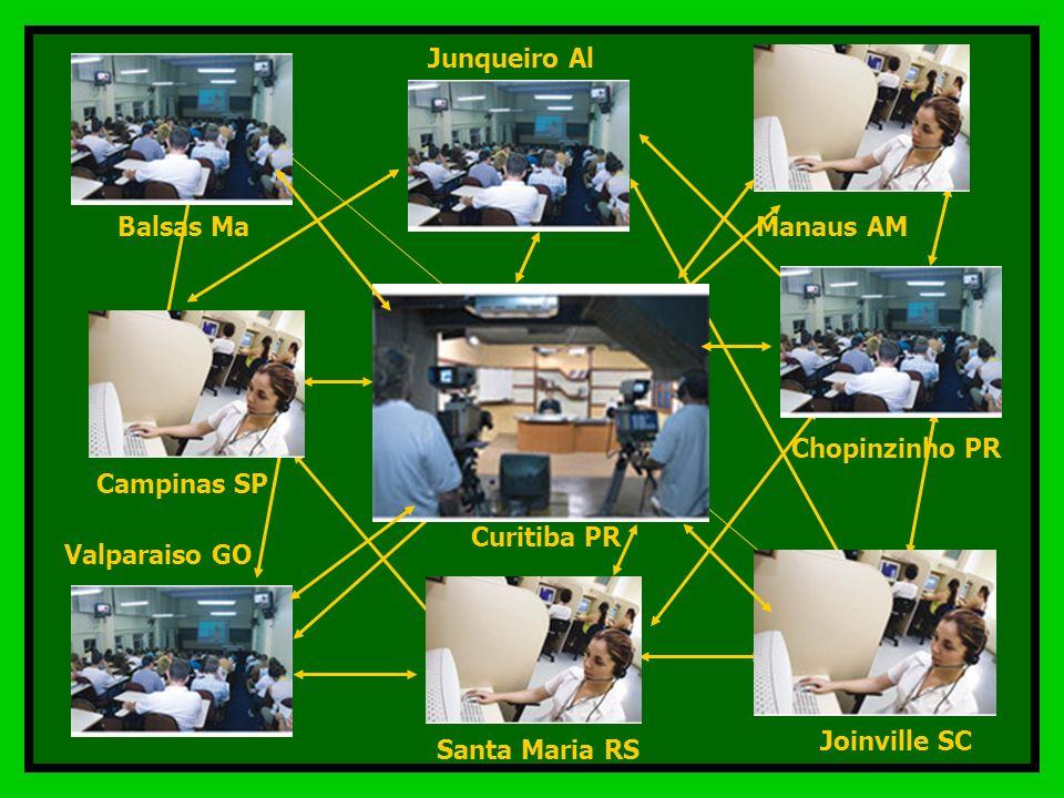 Junqueiro Al Manaus AM. Balsas Ma. Chopinzinho PR. Curitiba PR. Campinas SP. Valparaiso GO. Joinville SC.
