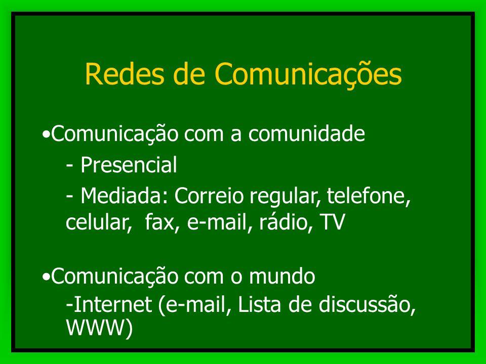 Redes de Comunicações Comunicação com a comunidade Presencial