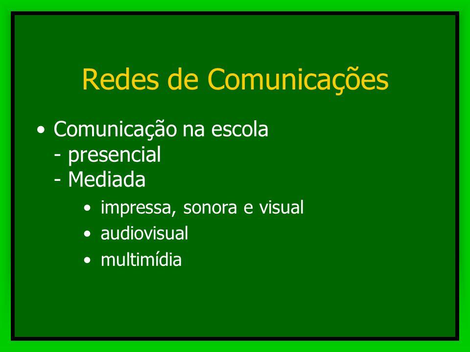 Redes de Comunicações Comunicação na escola - presencial - Mediada