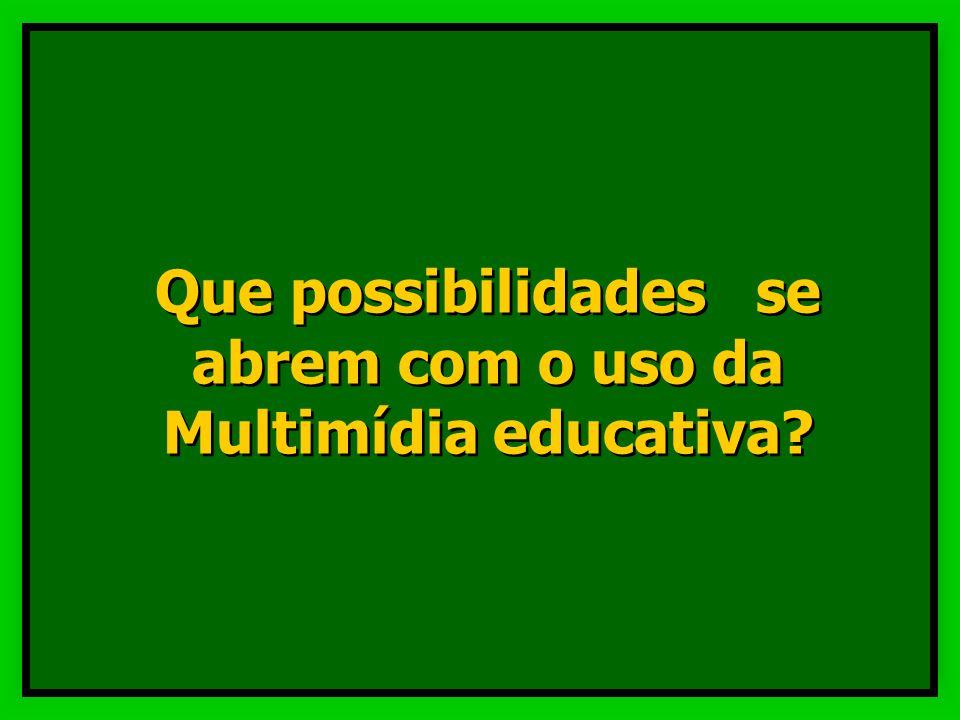 Que possibilidades se abrem com o uso da Multimídia educativa