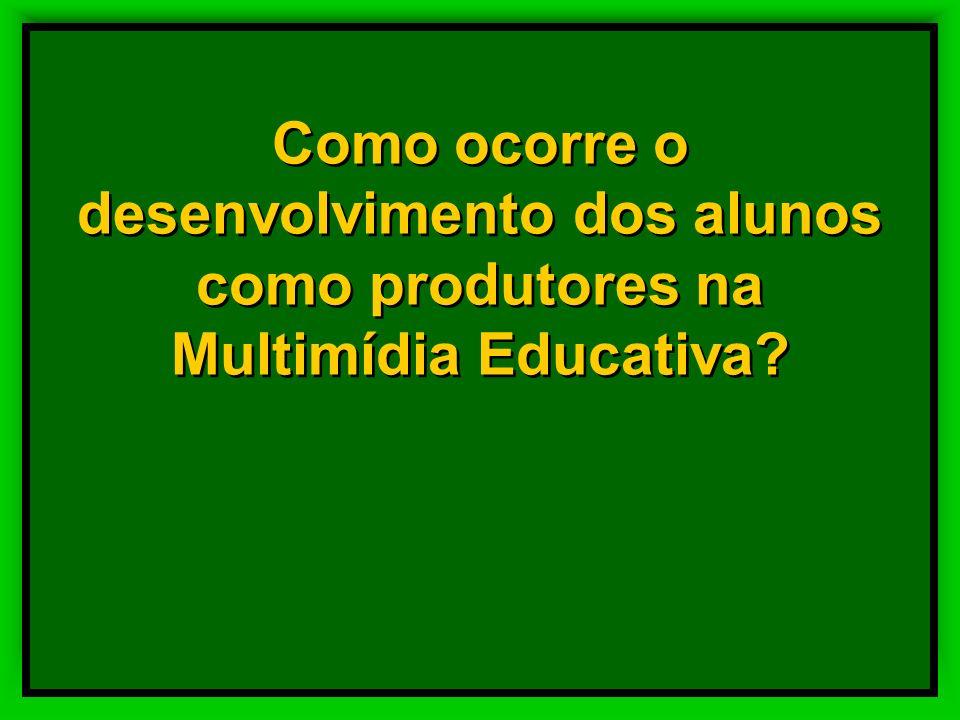 Como ocorre o desenvolvimento dos alunos como produtores na Multimídia Educativa