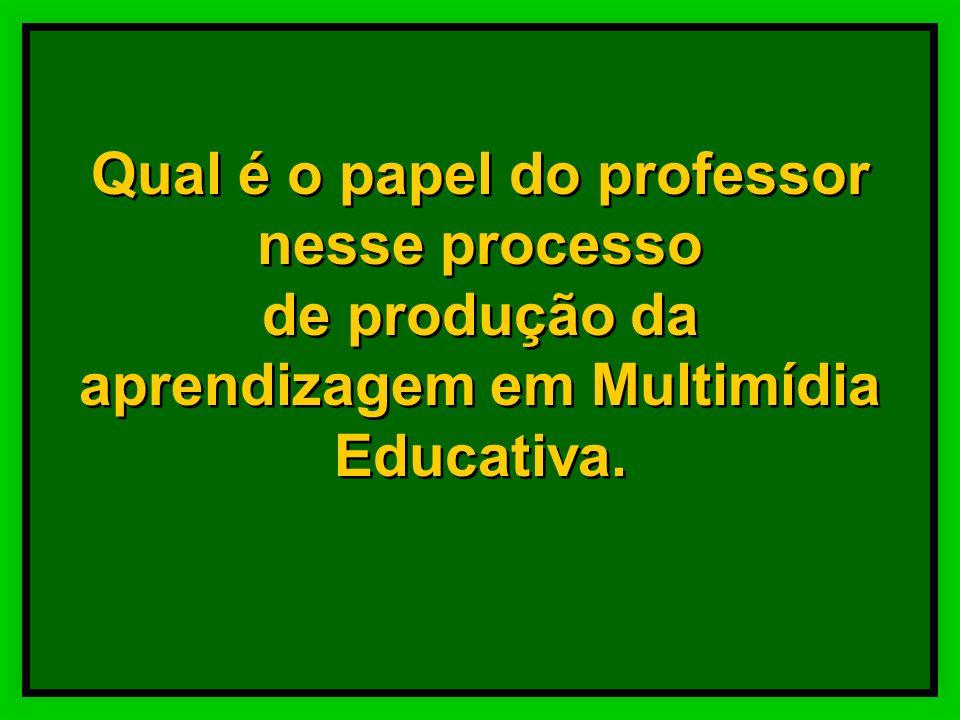 Qual é o papel do professor nesse processo de produção da aprendizagem em Multimídia Educativa.
