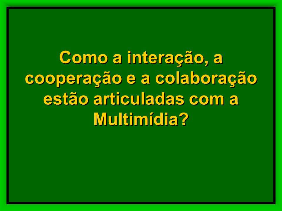 Como a interação, a cooperação e a colaboração estão articuladas com a Multimídia