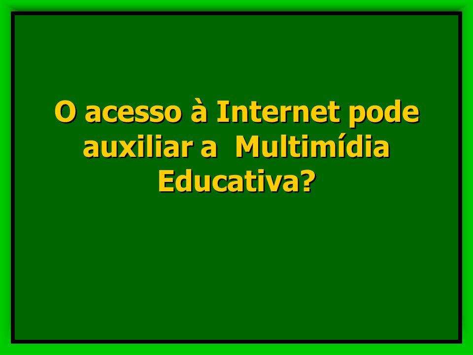 O acesso à Internet pode auxiliar a Multimídia Educativa