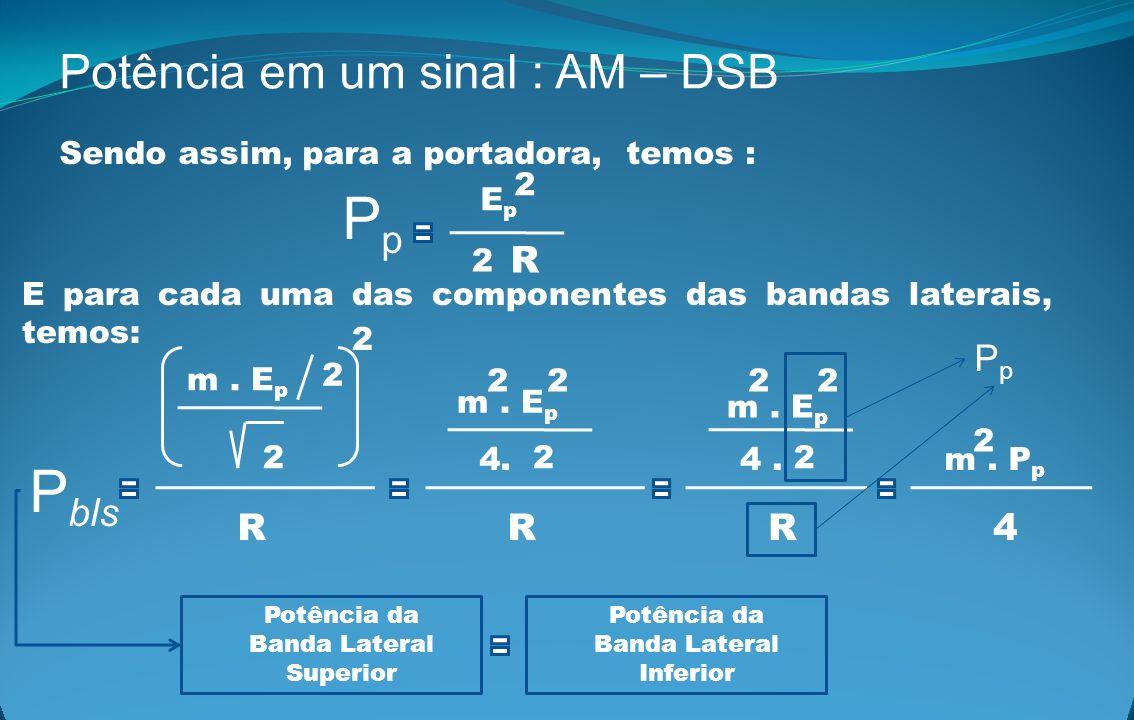 Pp Pbls Potência em um sinal : AM – DSB R Pp R R R 4