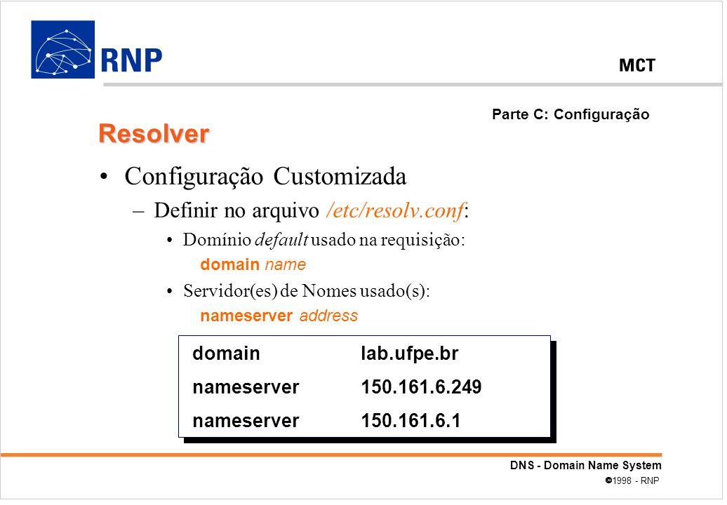Configuração Customizada