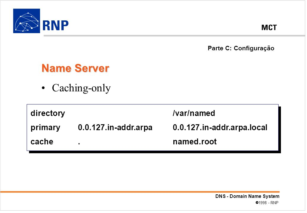 Name Server Caching-only directory /var/named