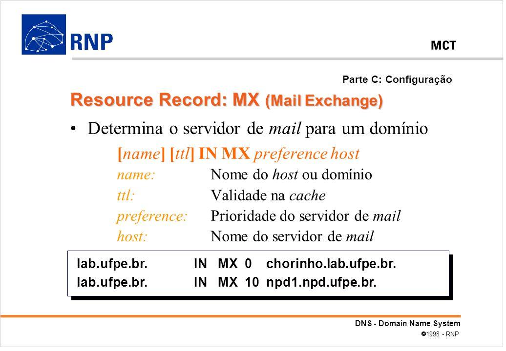 Resource Record: MX (Mail Exchange)