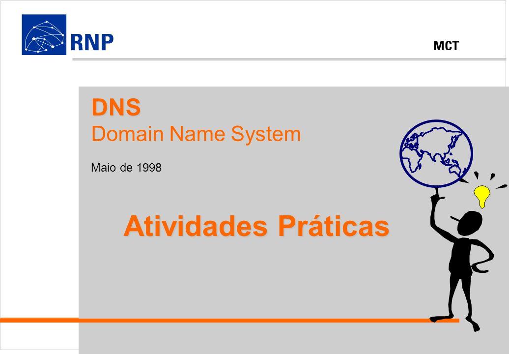 DNS Domain Name System Maio de 1998 Atividades Práticas
