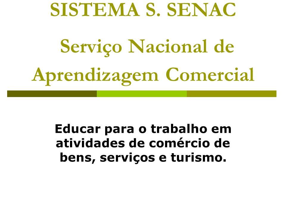 SISTEMA S. SENAC Serviço Nacional de Aprendizagem Comercial